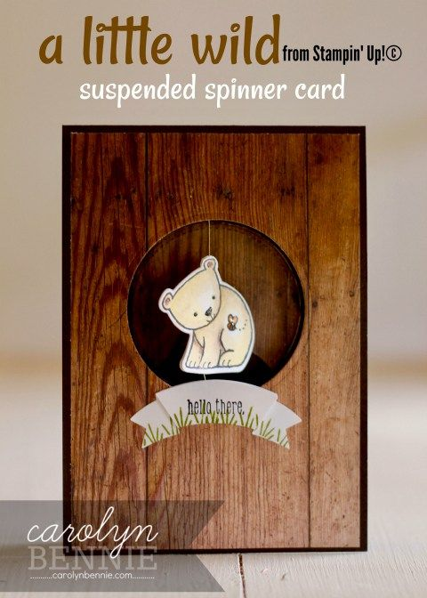 A Little Wild - Stampin' Up! Suspended Spinner Card by Carolyn Bennie, Independent Stampin' Up! Demonstrator carolynbennie.com - see my full FAcebook Live Video Tutorial on my blog
