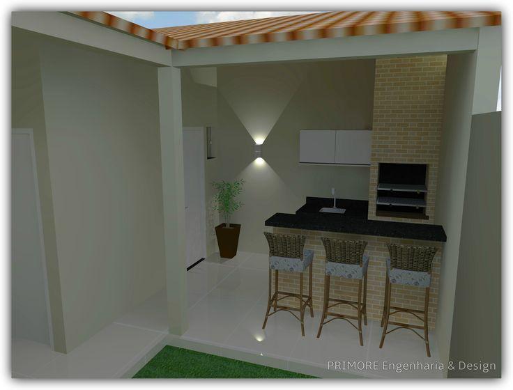 Em pouco espaço, um projeto bem elaborado pode construir uma churrasqueira bonita e funcional.  As medidas são fundamentais em espaços pequenos, um profissional para auxiliar na definição do projeto faz toda a diferença.