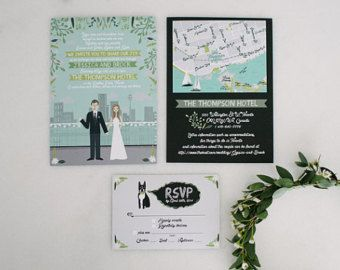619 best wedding inspiration invites images on pinterest invite card rsvp mapreception card custom illustrated wedding invitations stopboris Choice Image