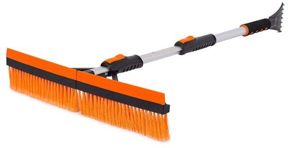 Snow Moover 46 Extendable Snow Brush With Squeegee Ice Scraper Ice Scraper Squeegees Brush