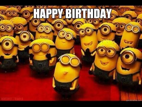 Minions wishing happy birthday  - amazing video - YouTube