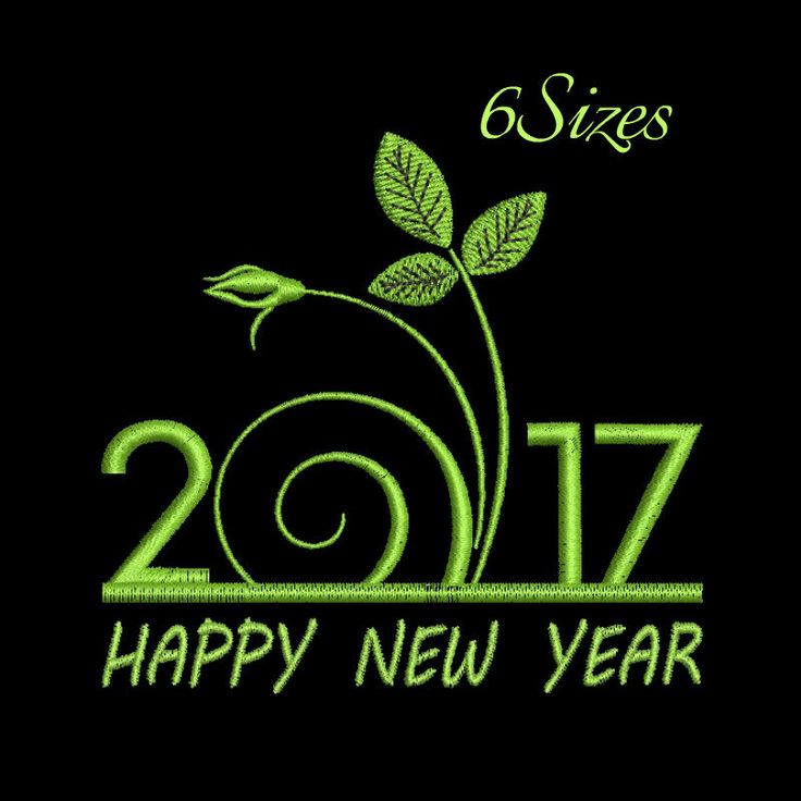 Happy New Year machine embroidery design,Christmas design,digital download, pattern,New Year design by GretaembroideryShop on Etsy
