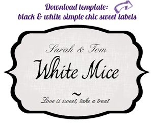 Sweet Jar Lables | Wedding Candy Buffet Labels Free Download