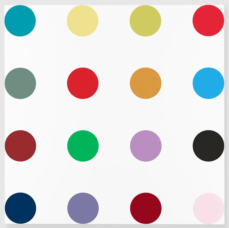 damien hirst isonicotinoyl chloride 2005 household gloss on canvas 84 x 84 inches 213 4 x 213. Black Bedroom Furniture Sets. Home Design Ideas