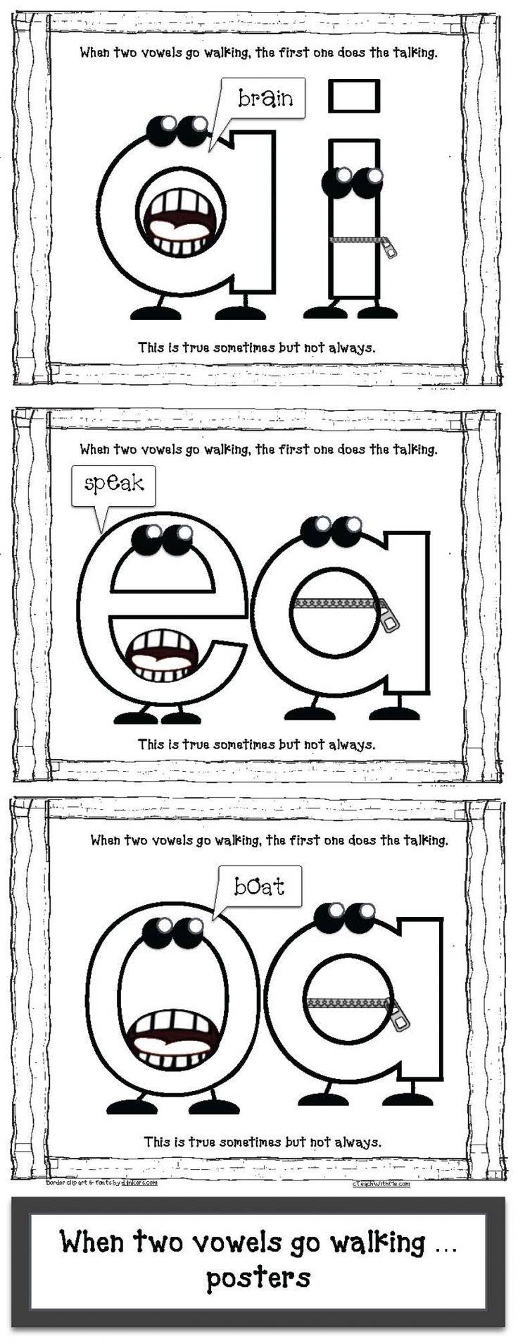 Workbooks long vowel digraphs worksheets : Best 25+ Teaching vowels ideas on Pinterest | Vowel sounds, Long ...