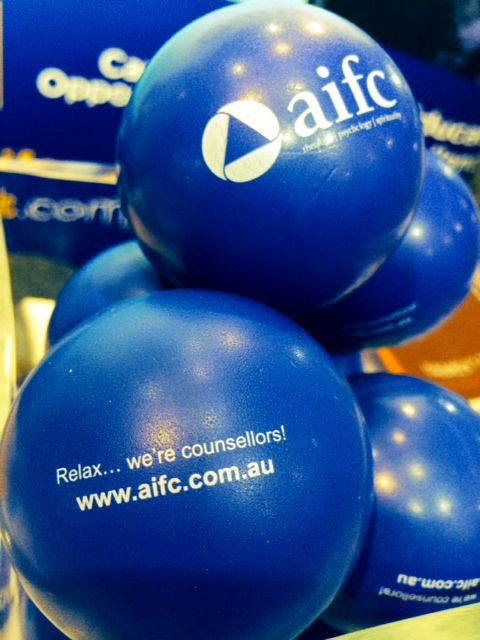 Stress balls.  Relax... We're counsellors!