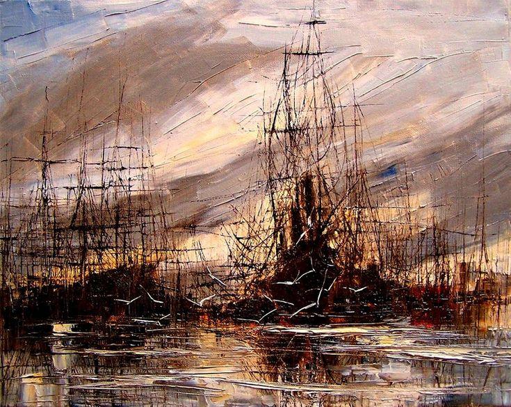 "Saatchi Online Artist: Justyna Kopania; Oil, 2010, Painting ""Harbour"""