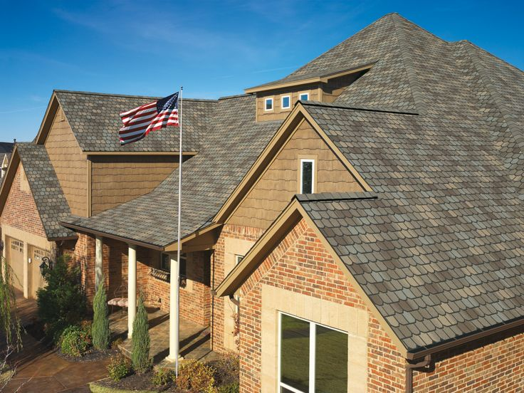 Shown Here In Weathered Wood, Country Mansion® II Shingles Combine A  Hand Crafted