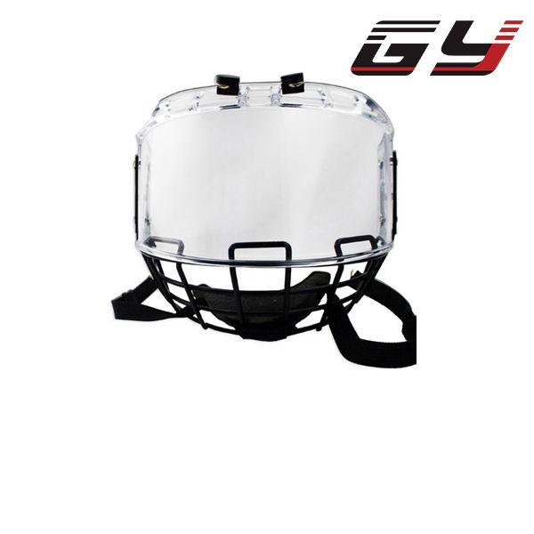 2016 hockey sur Glace visage bouclier combinaison avec métal masque PC visière lecteur google