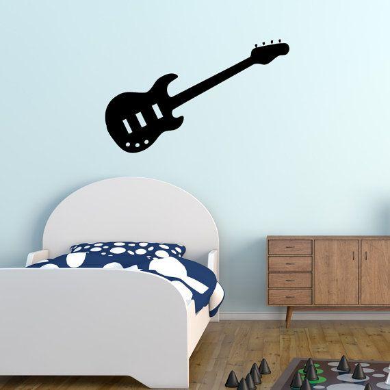Electric Guitar Music Wall Sticker Guitar Wall Sticker