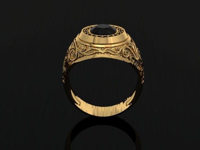 jewelry man signet ring 3d model