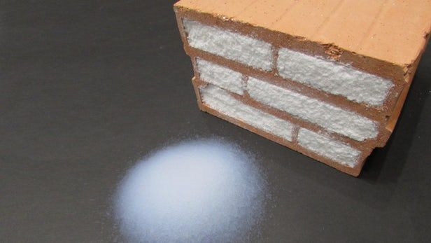 Aerogel-filled bricks are great at insulating, but not on the cheap