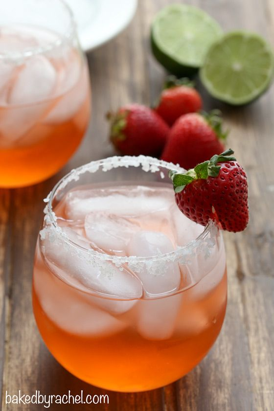 Perfect Any Occasion Summer Pitcher Cocktail ! Easy & So Good ! Fresh Strawberry Margaritas!