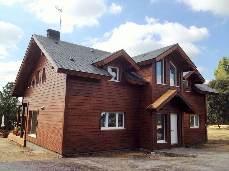 Mejores 82 im genes de casa de madera fachadas en pinterest - Casas entramado ligero ...