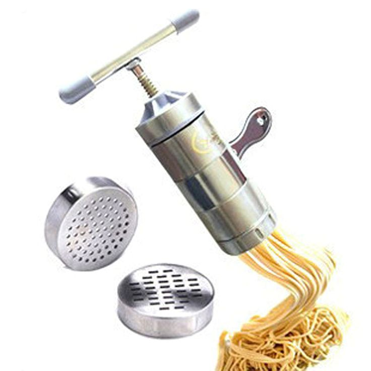 ==> [Free Shipping] Buy Best Stainless Steel Noodle Maker Manual Noodles Press Machine Pasta Maker with 5 Noodle Mould Kitchen Tools Vegetable Fruit Juicer Online with LOWEST Price | 32754570965