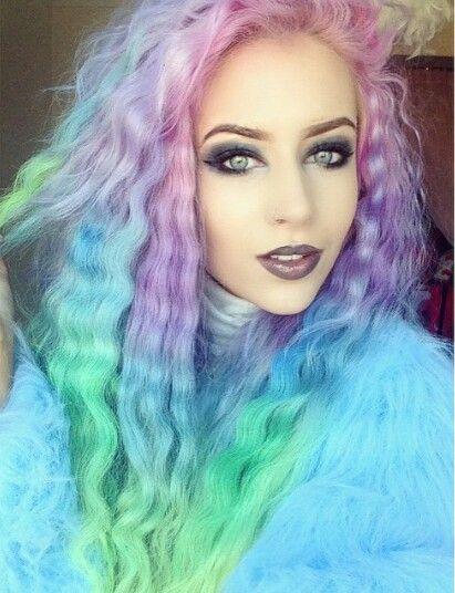 Rainbow Pastel Hair Maquillage Cheveux Blonds Cheveux