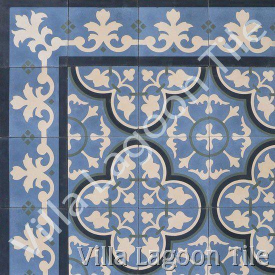 Bayahibe cement tile from Villa Lagoon Tile  www.villalagoontile.com