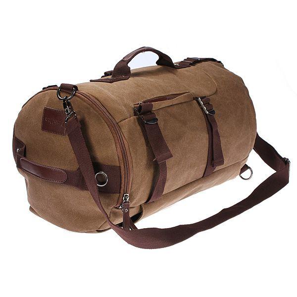 Acampamento de mochila de mochila de viagem de lona de determinada safra que…