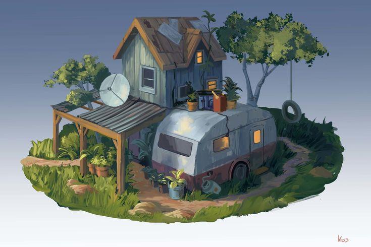 ArtStation - Shanty Caravan, Daniel Voss