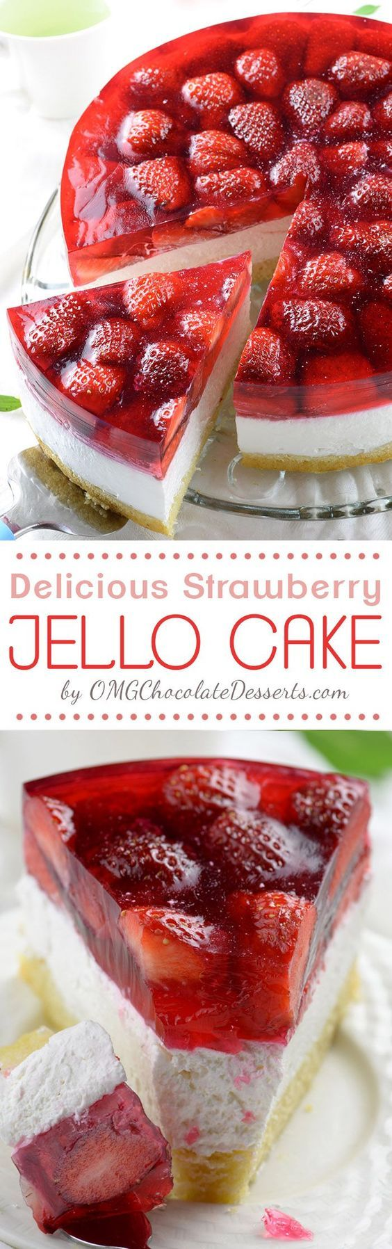 Strawberry Jello Cake recipe is the yummiest combo of all-time favorite spring…