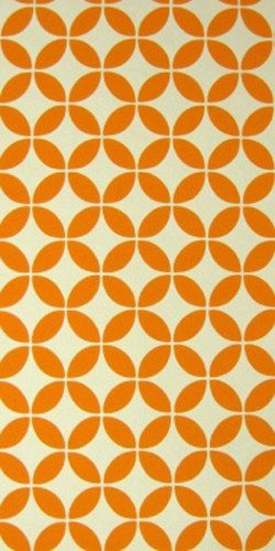 Embossed Vintage Original Orange Abstract Wallpaper