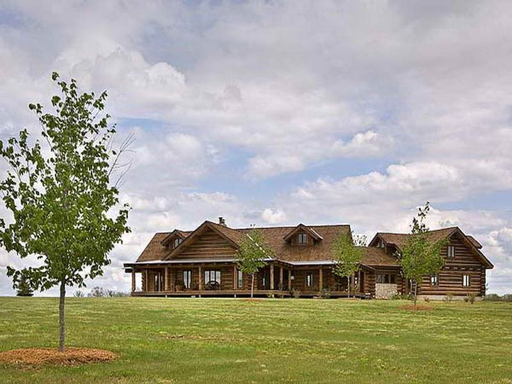 Ranch style log cabin floor plans for Farm style homes