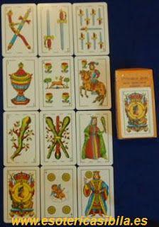 sibila esotérica: BARAJA ESPAÑOLA, de 56 cartas. Naipes Comas