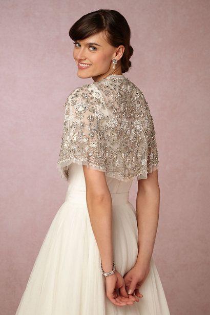 BHLDN Philomena Cape in  Bride Bridal Cover Ups at BHLDN
