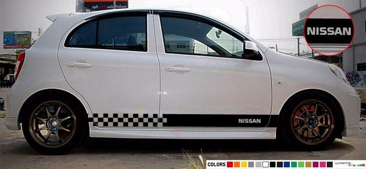 Sticker Decal for Nissan micra xenon side front carbon light mirror bumper rear #ultimateprocy1