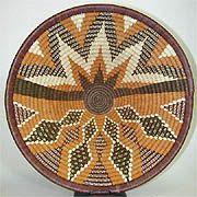 Hand-woven basket from Botswana.