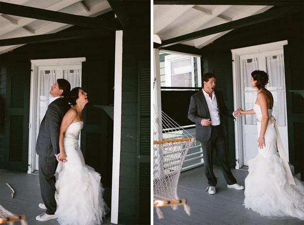 Cuando el novio ve a la novia por primera vez...
