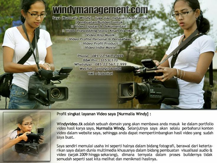 Windy Video Shooting | WindyManagement.com | Video Shooting Pernikahan , Video Syuting , Video Dokumentasi , Video Kisah Pranikah , Prewedding Story Video