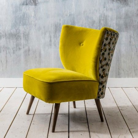 Alpana Yellow Velvet Chair - View All Seating - Seating - Sofas & Seating