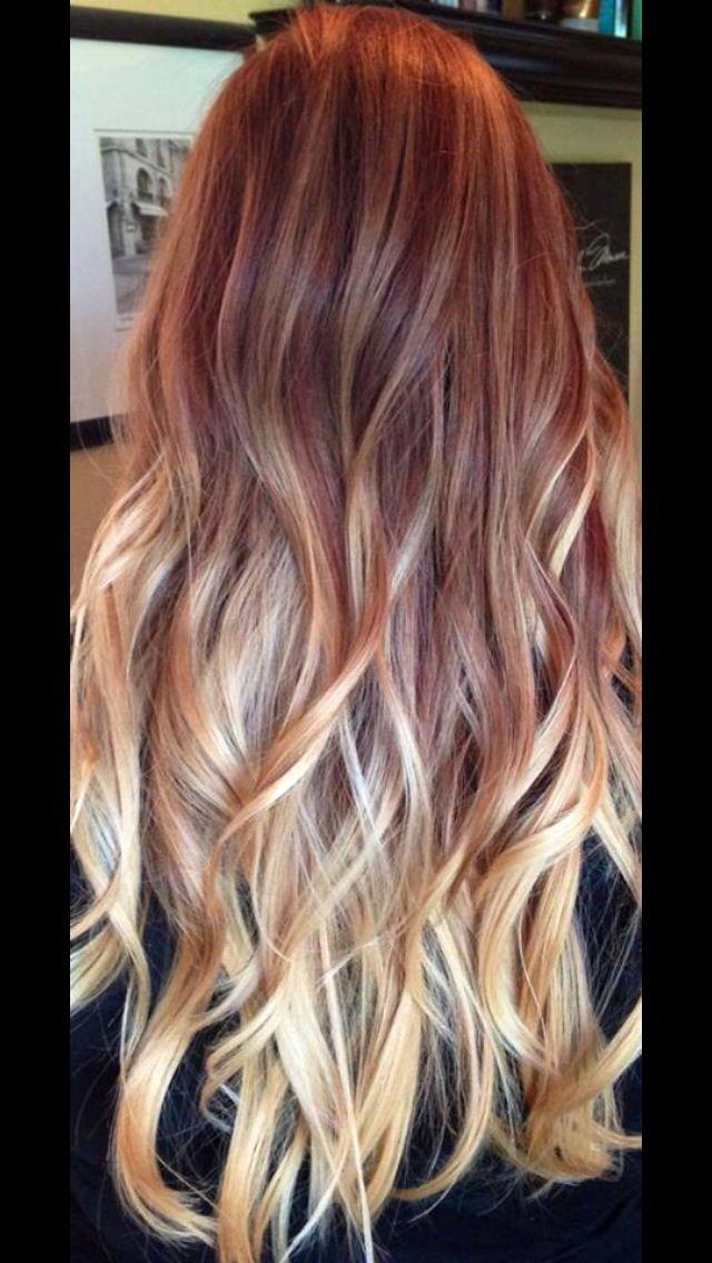 15 best kapsels images on pinterest red to blonde ombr urmus Images