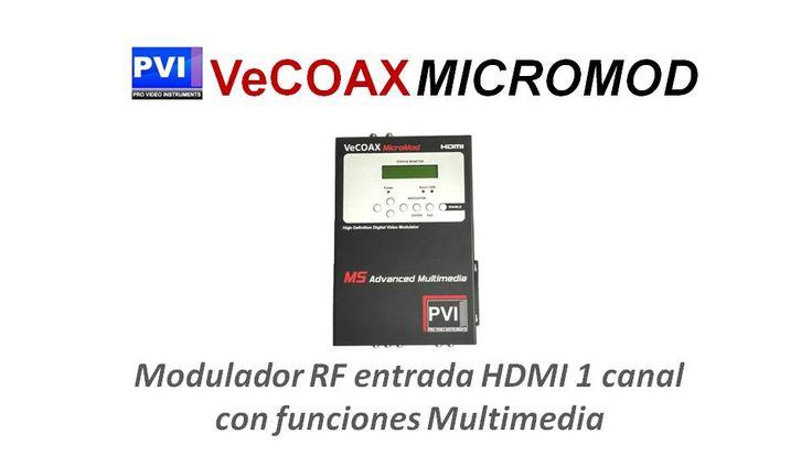 Vecoax Micromod modulador HDMI a coaxial RF 1 canal zeevee zvpro