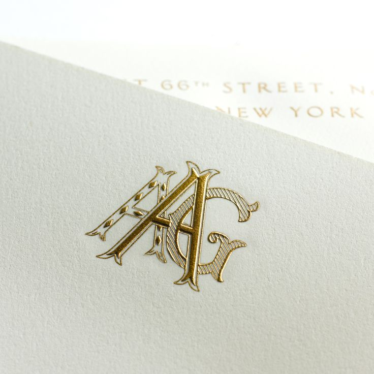 Custom monogram on bespoke stationery from Mrs. John L. Strong. www.mrsstrong.com