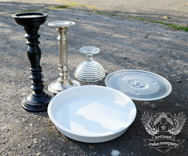 candlesticks and microwave plates