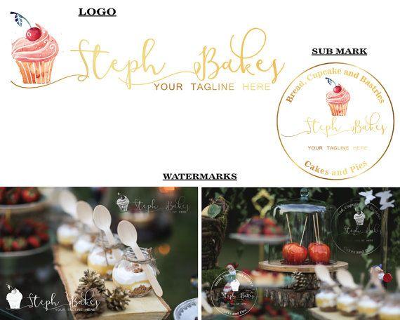 BAKERY LOGO Cake logo Hand-drawn cake Cake with by LoveArtsStudio