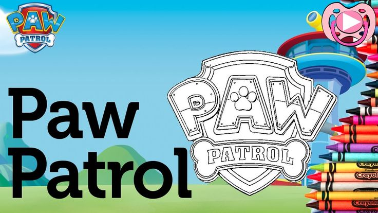 Characters from Paw Patrol 🐾  Coloring the Paw Patrol Logo