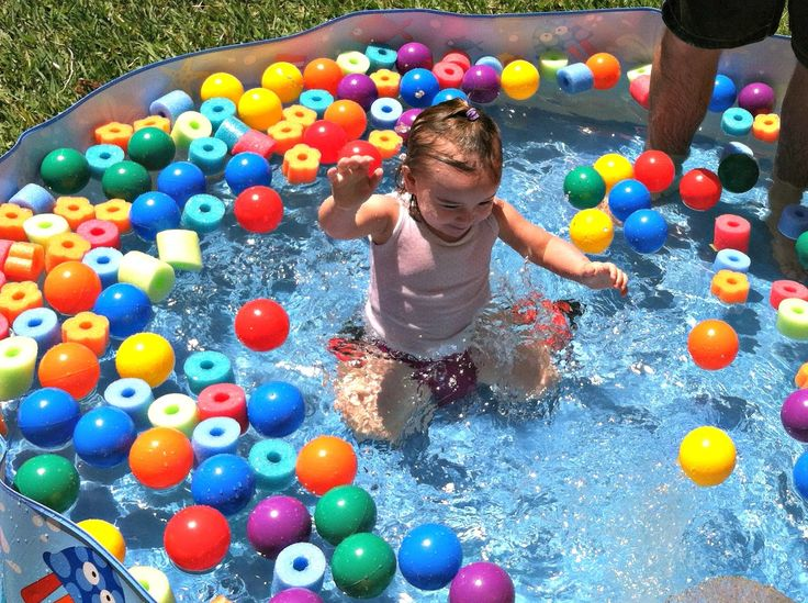 Ballpit swimming pool for summer fun! Toddler pool