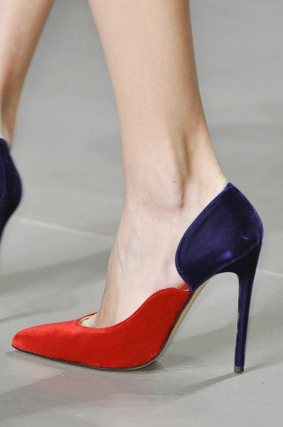 Emilio de la Morena Purple & Red Stiletto Pumps Fall 2014 #Shoes #Heels