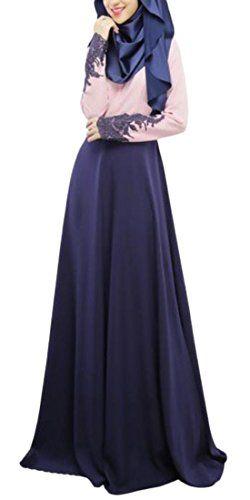 BYBU Womens Lace Islamic Abaya Jilbab Muslim Maxi Dress 2 M >>> You can get additional details at the image link.