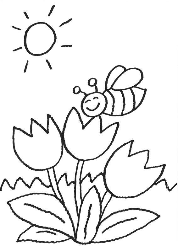 Ausmalbilder Blumen 08 Kindergarten Frühling Pinterest