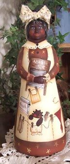 Cindy Trombley paintings on Mrs. Butterworth bottle. Take a look at her site. It is wonderful!