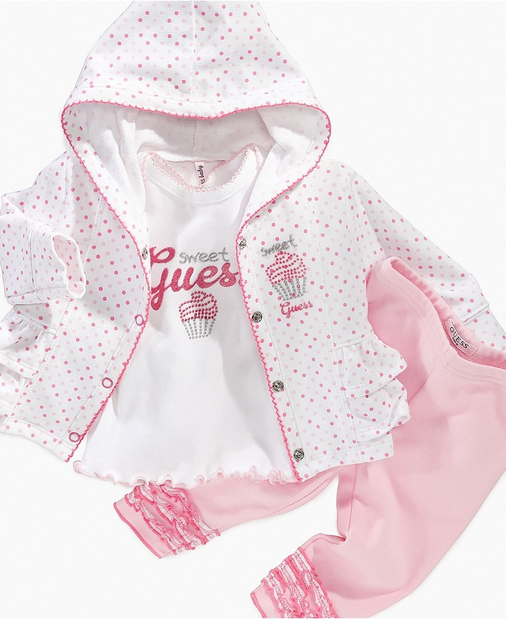 Guess Baby Set Girls Piece Cupcake Hoodie