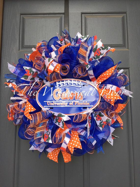Florida Gators Wreath University of Florida by TheWhimsicalDoor