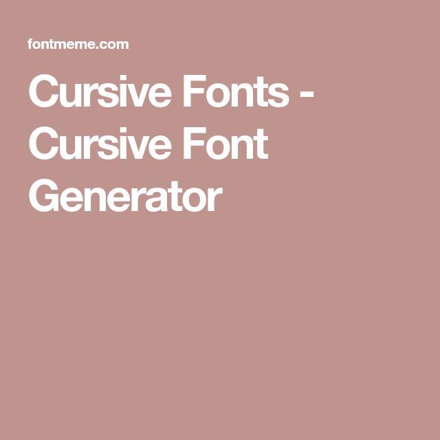 Best 25+ Cursive generator ideas on Pinterest | Type writing ...