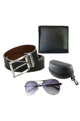 Make your brother feel special by gifting this Combo of Black and Blue Men Belt, Wallet and Aviator Sunglasses.  #giftsets #rakhispecialgifts #menswllets #mensbelts #sunglssesformen #gifthampersforrakshabandhan Shop here- https://trendybharat.com/trendy-pitara/style-box/combo-of-black-and-blue-men-belt-wallet-and-aviator-sunglasses-8feb16a