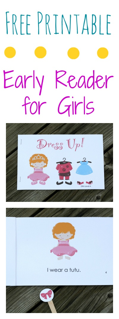 Free printable book that's perfect for new readers. {Playdough to Plato}