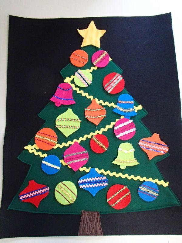 Felt Christmas tree for my grandbaby to decorate